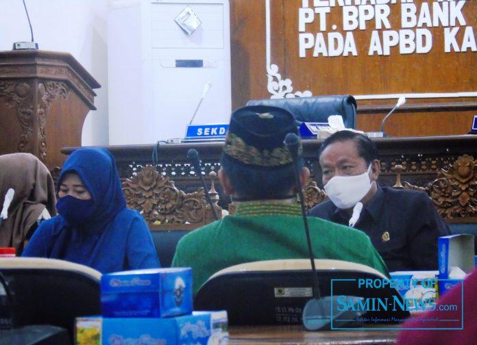 public hearing Rancangan Peratutan Daerah (Raperda) tentang Penyelenggarakan Tanggung Jawab Sosial dan Lingkungan Perusahaan (TJSLP).