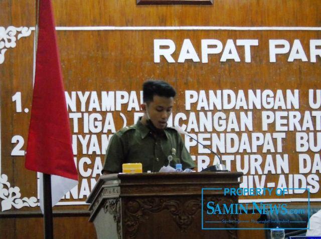 Sekretaris Fraksi Partai PDI P, Dimas Thole Danu Tirto