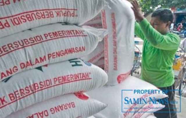 Ilustrasi : Tumpukan pupuk bersubsidi untuk memenuhi kebutuhan petani.