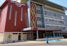 Bangunan IGD RSUD Soewondo Pati tampak dari depan.
