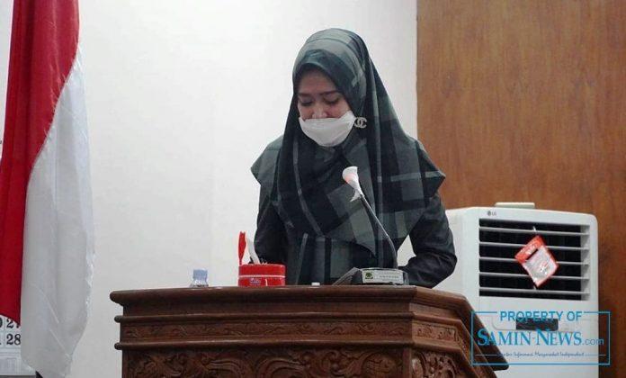 Anggota Dewan Perwakilan Rakyat Daerah (DPRD) Kabupaten Pati dari Fraksi Partai Gerindra, Yeti Kristianti.